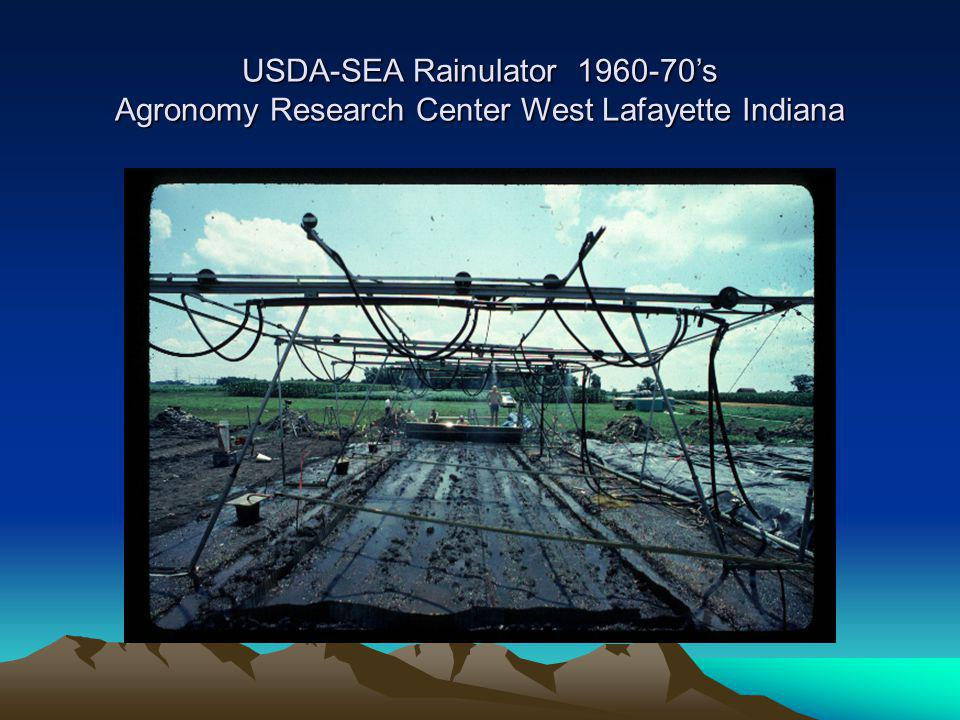 USDA-SEA Rainulator 1960-70's Agronomy Research Center West Lafayette Indiana