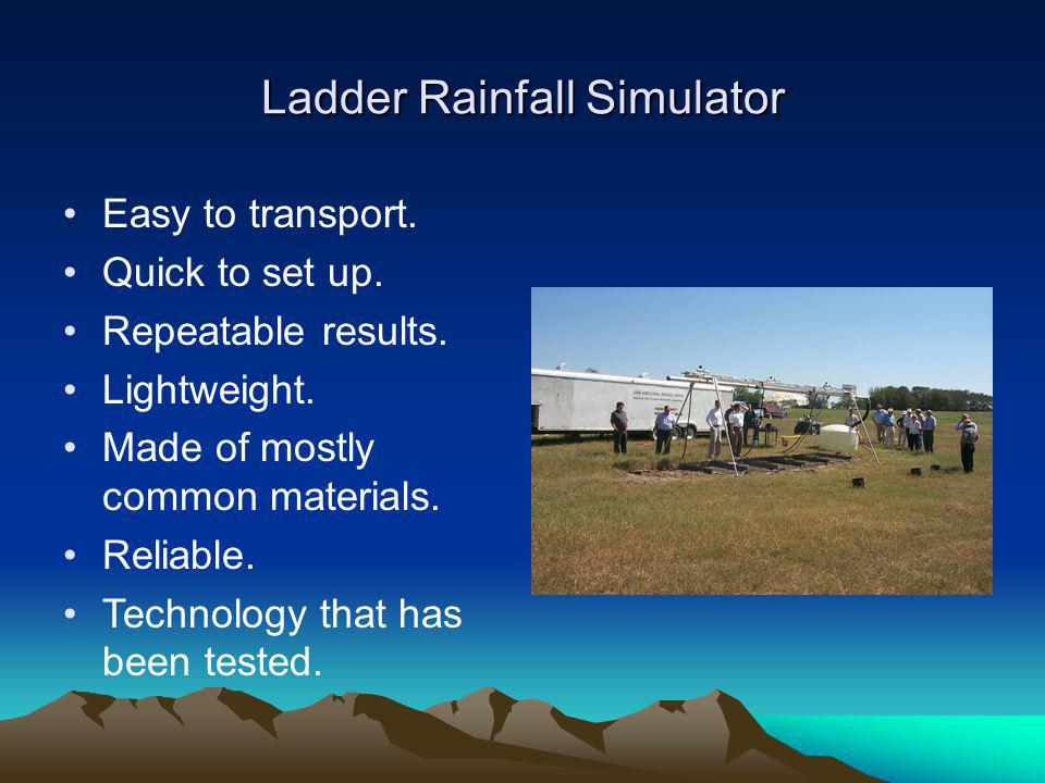 Ladder Rainfall Simulator