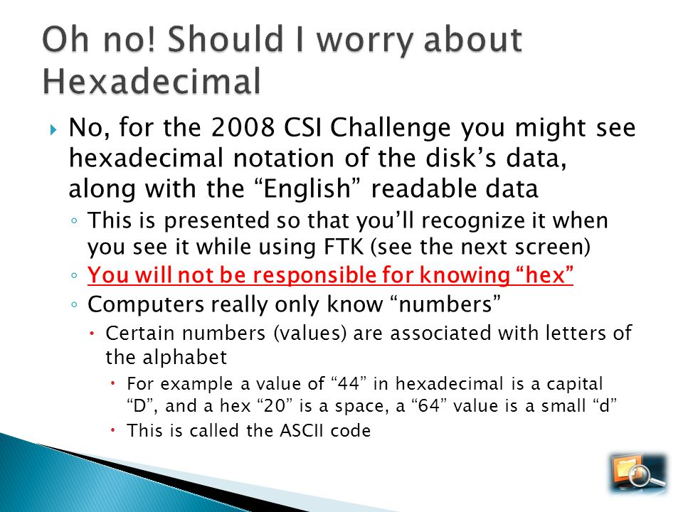 Oh no! Should I worry about Hexadecimal