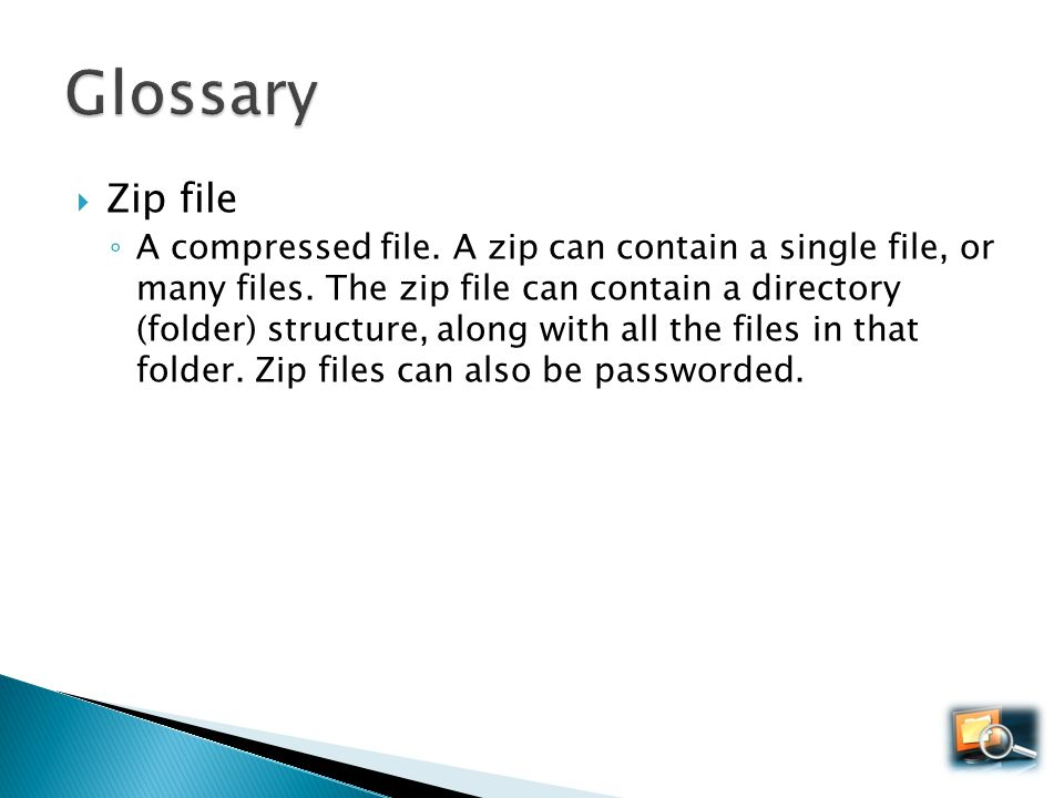Glossary Zip file.