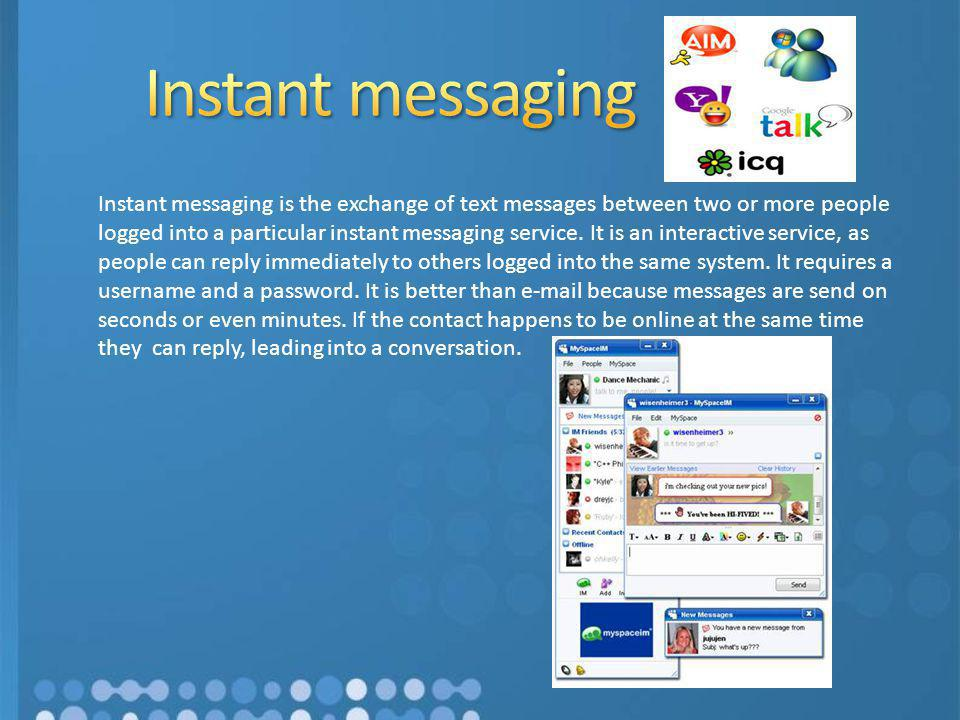 Instant Message People : How organizations use ict ppt video online download