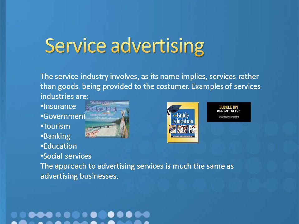 Service advertising