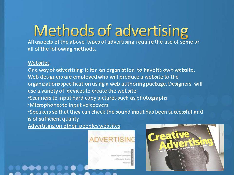 Methods of advertising