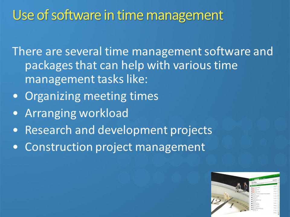 Use of software in time management