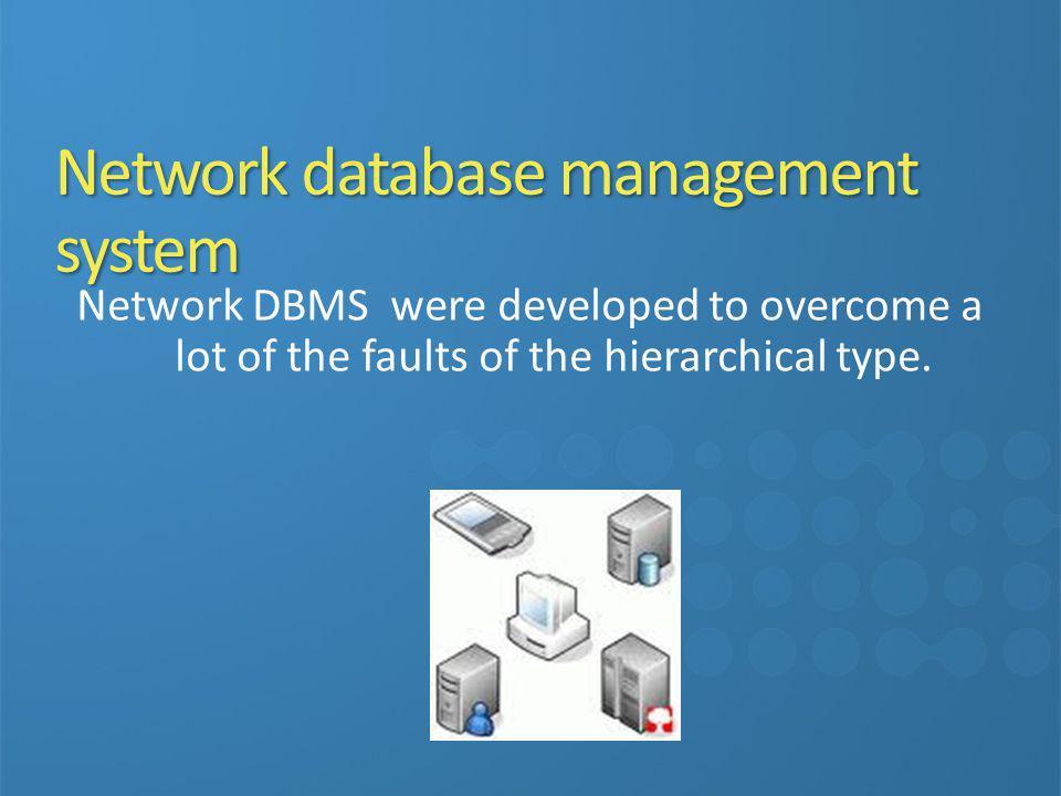 Network database management system