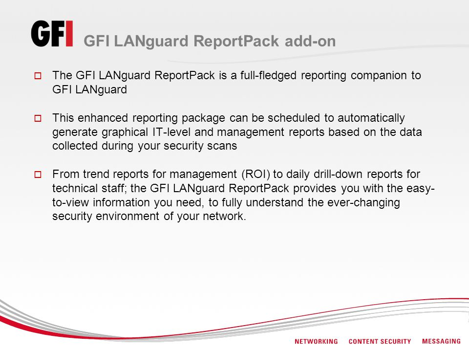 GFI LANguard ReportPack add-on