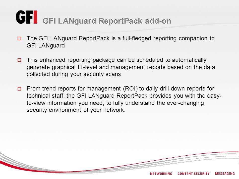 GFI LANguard ReportPack add-on