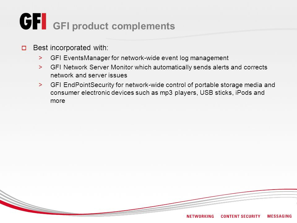 GFI product complements