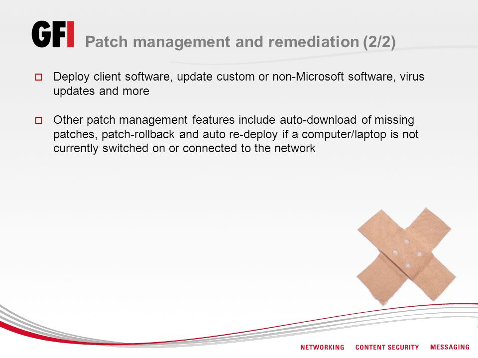 Patch management and remediation (2/2)
