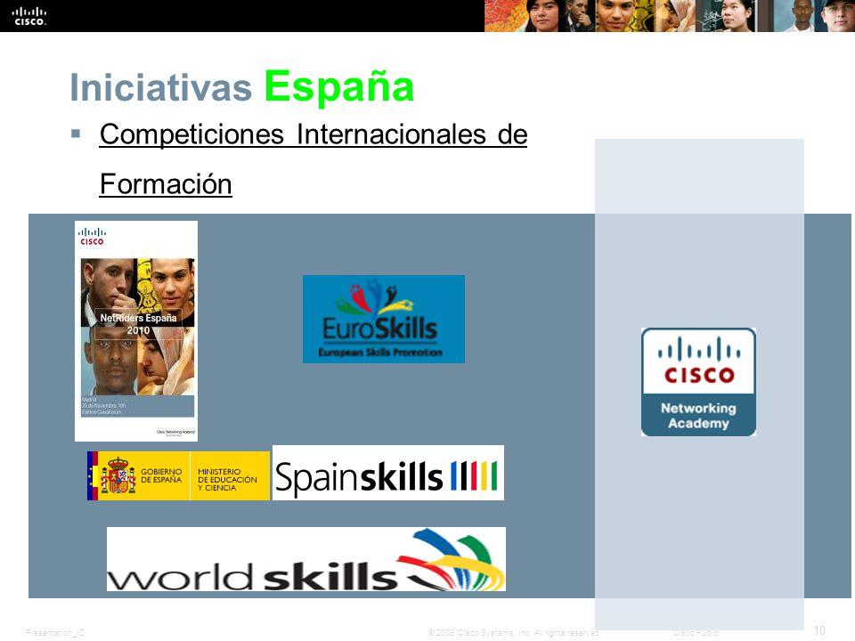 Iniciativas España Competiciones Internacionales de Formación