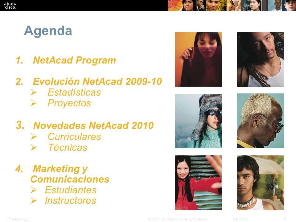 Agenda Novedades NetAcad 2010 NetAcad Program
