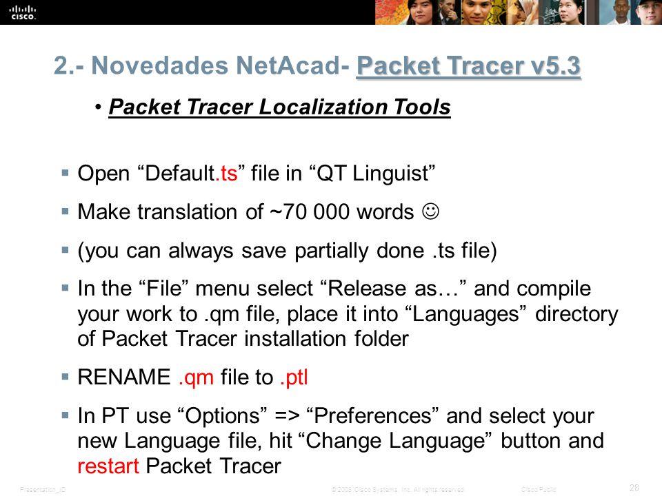 2.- Novedades NetAcad- Packet Tracer v5.3
