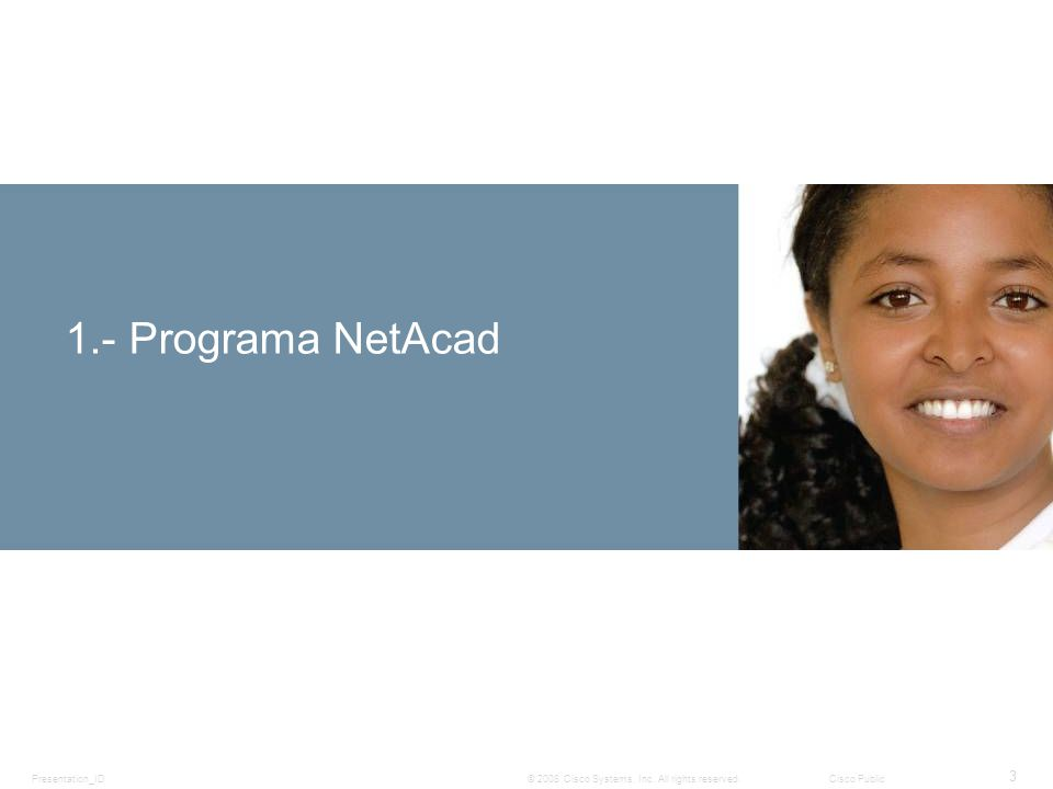 1.- Programa NetAcad