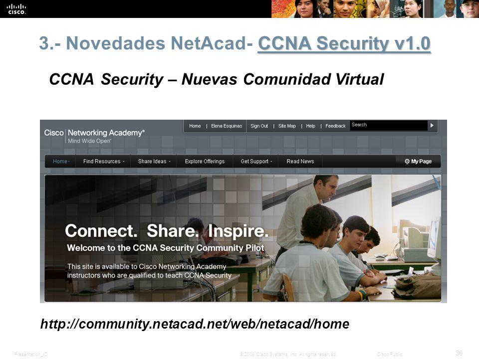 3.- Novedades NetAcad- CCNA Security v1.0