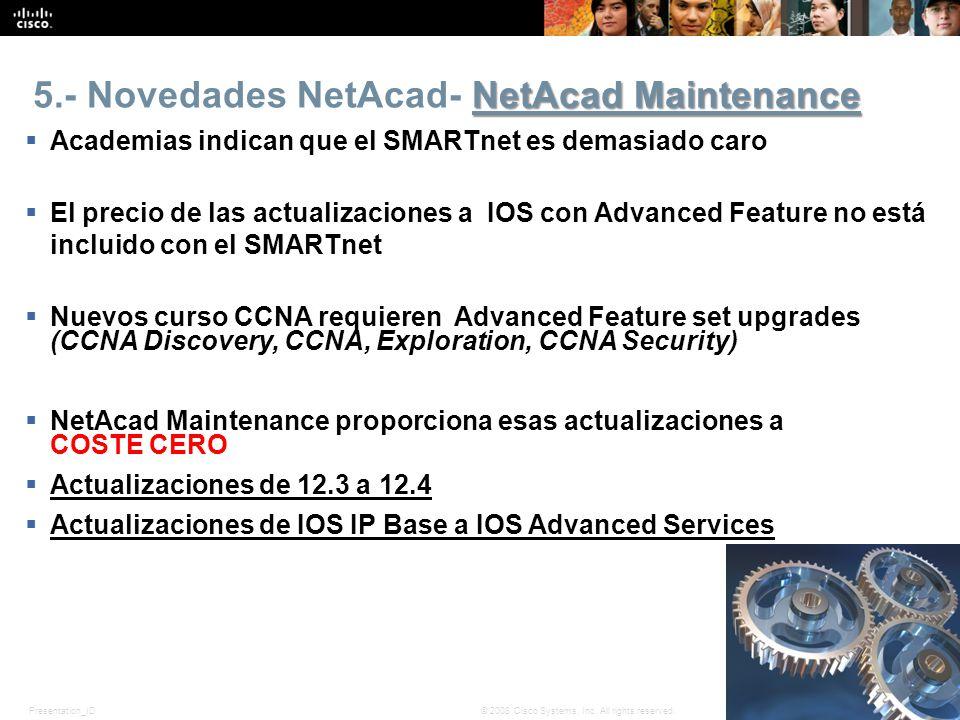 5.- Novedades NetAcad- NetAcad Maintenance