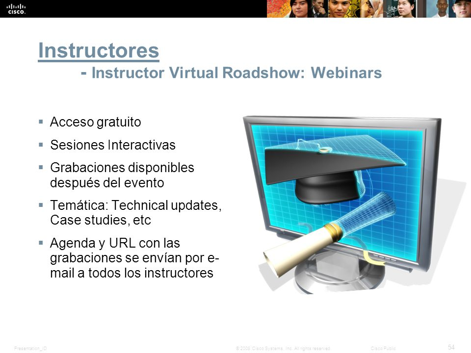 Instructores - Instructor Virtual Roadshow: Webinars