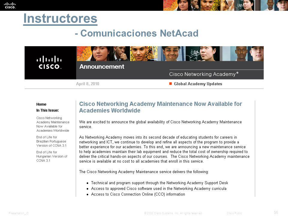 Instructores - Comunicaciones NetAcad