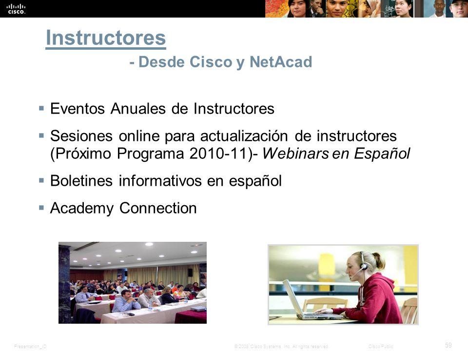 Instructores - Desde Cisco y NetAcad