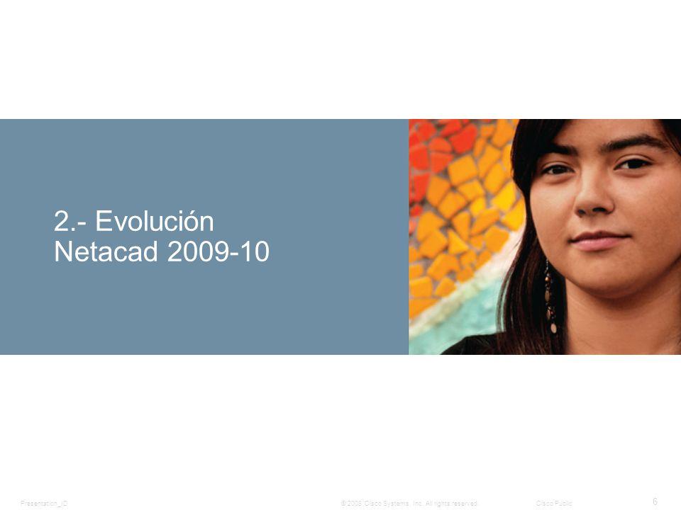 2.- Evolución Netacad 2009-10