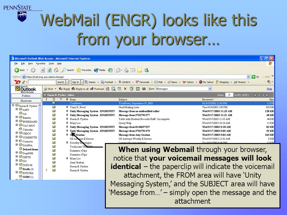 WebMail (ENGR) looks like this from your browser…