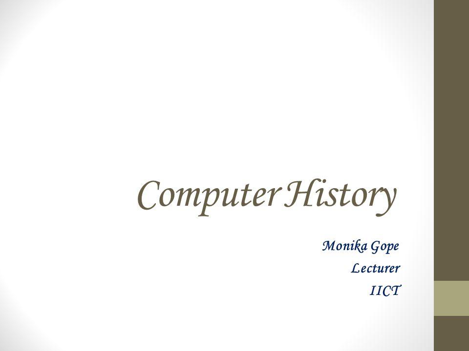 Monika Gope Lecturer IICT