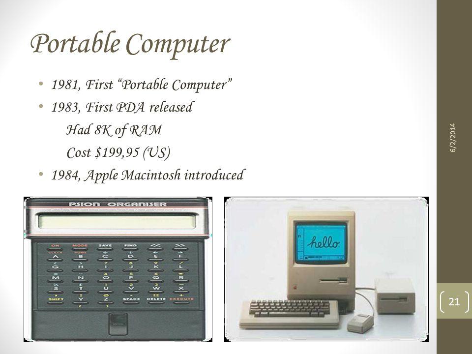 Portable Computer 1981, First Portable Computer
