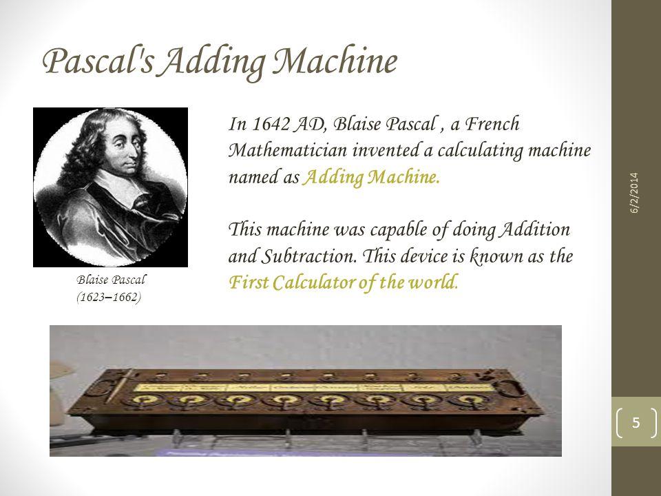 Pascal s Adding Machine