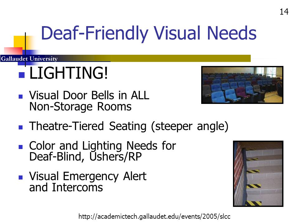 Deaf-Friendly Visual Needs