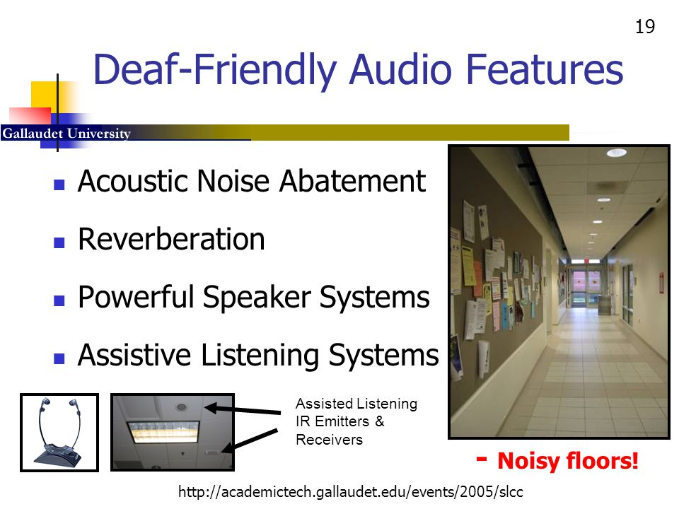 Deaf-Friendly Audio Features