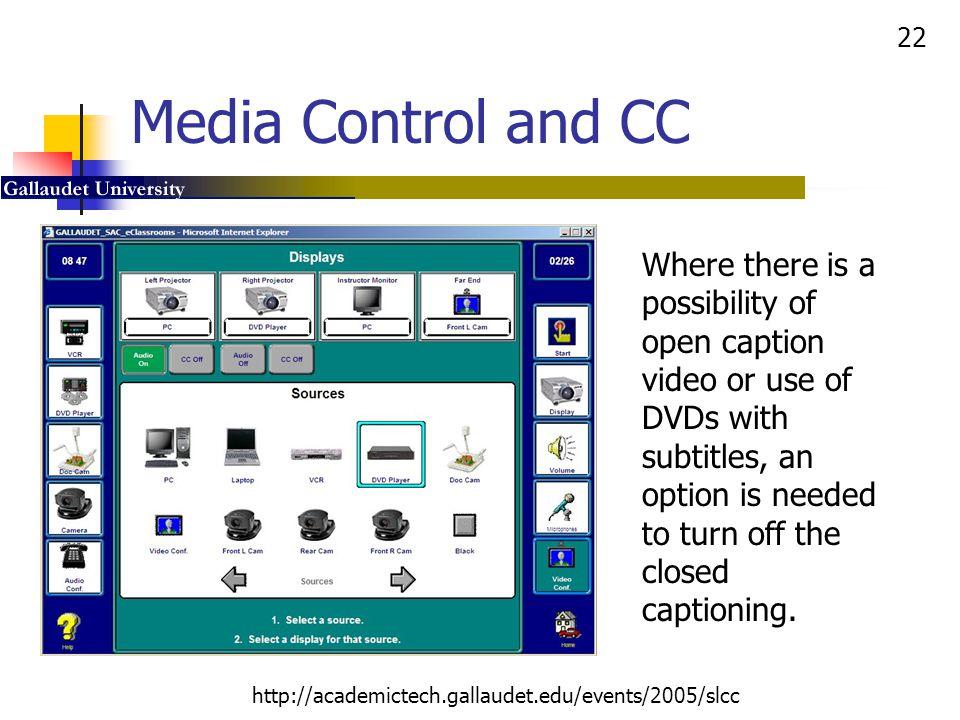 Media Control and CC