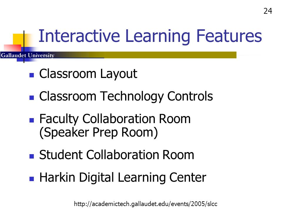 Interactive Learning Features