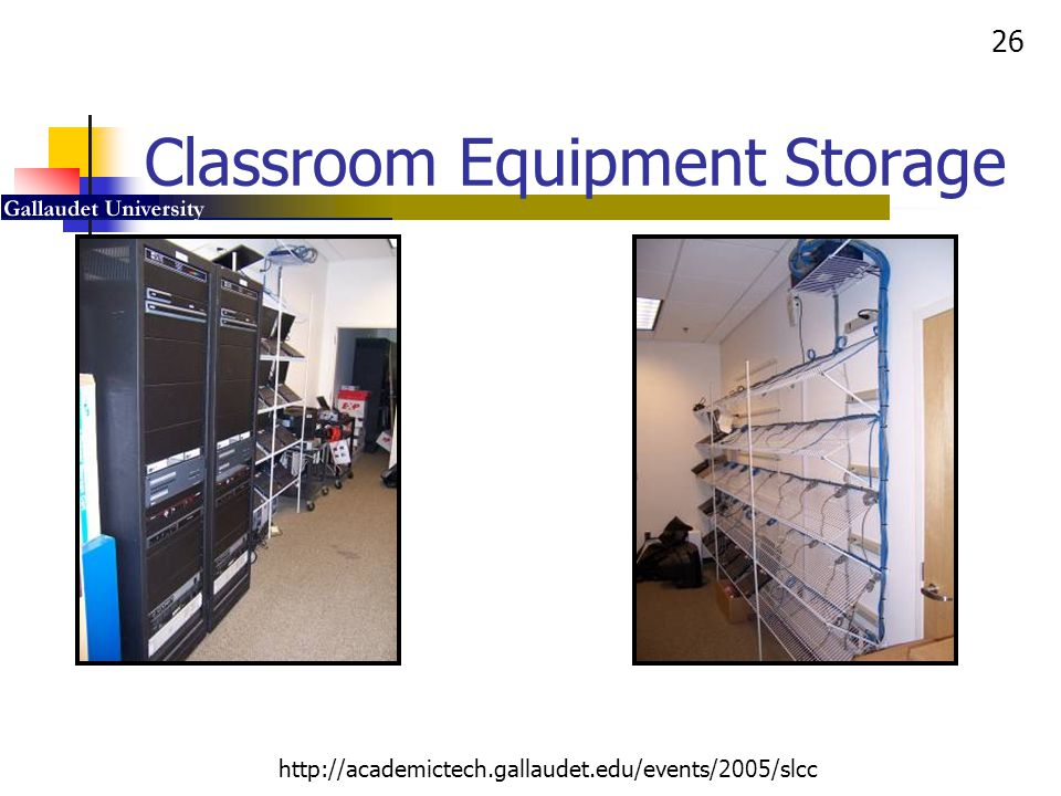 Classroom Equipment Storage