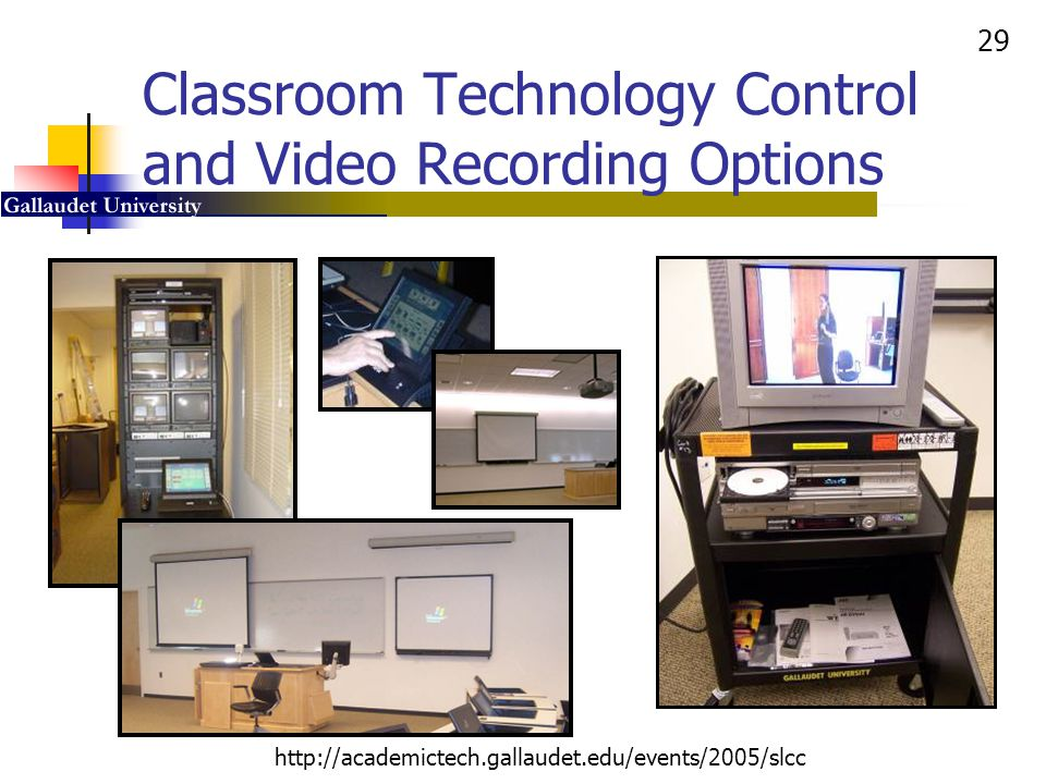 Classroom Technology Control and Video Recording Options