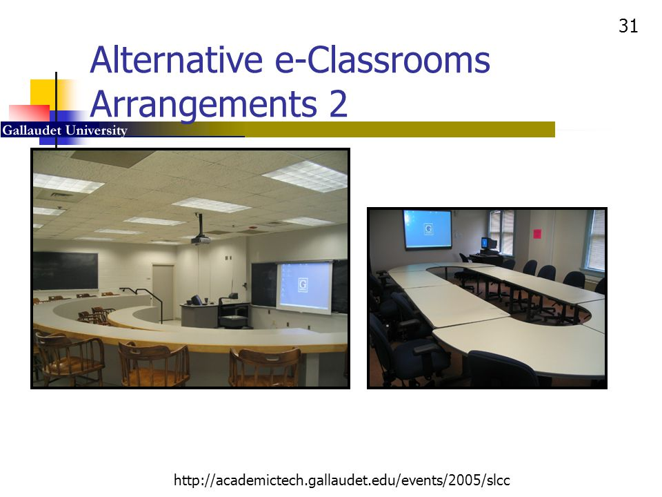 Alternative e-Classrooms Arrangements 2