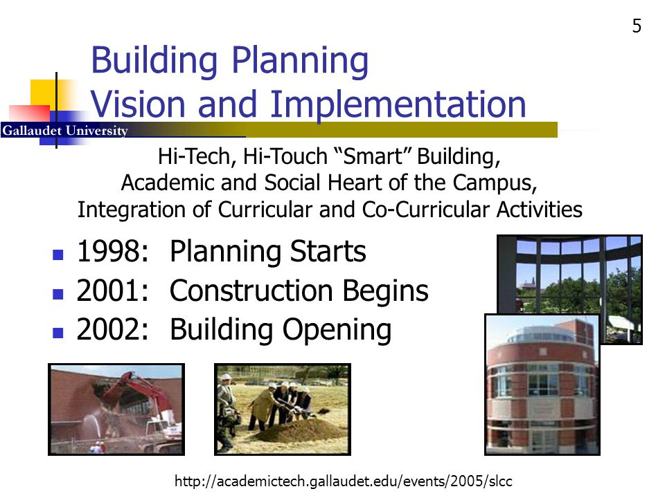 Building Planning Vision and Implementation