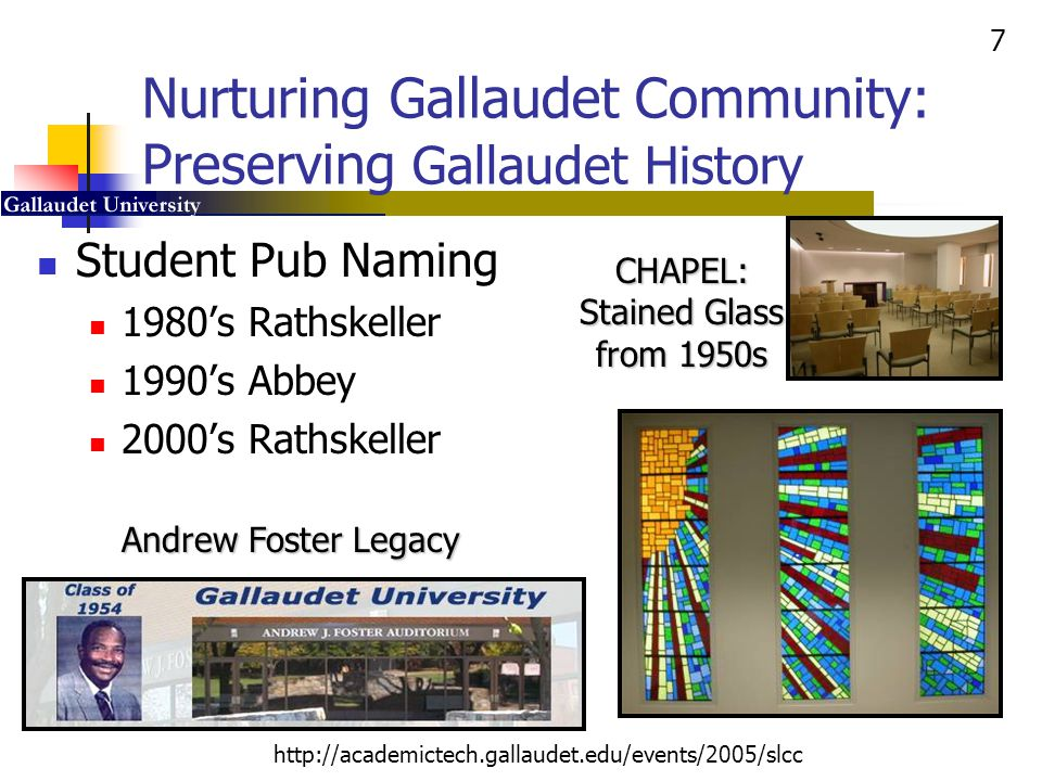 Nurturing Gallaudet Community: Preserving Gallaudet History