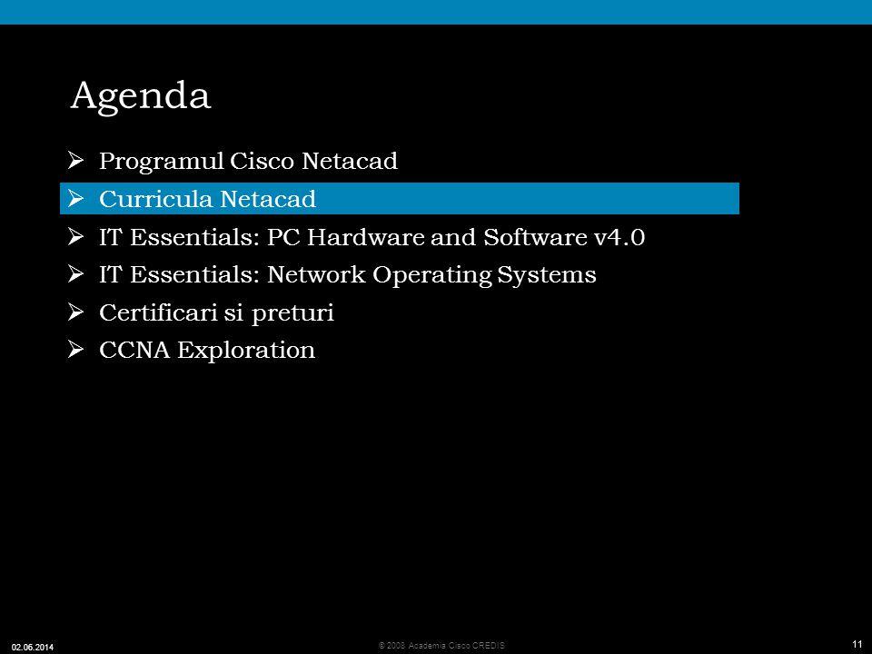 Agenda Programul Cisco Netacad Curricula Netacad