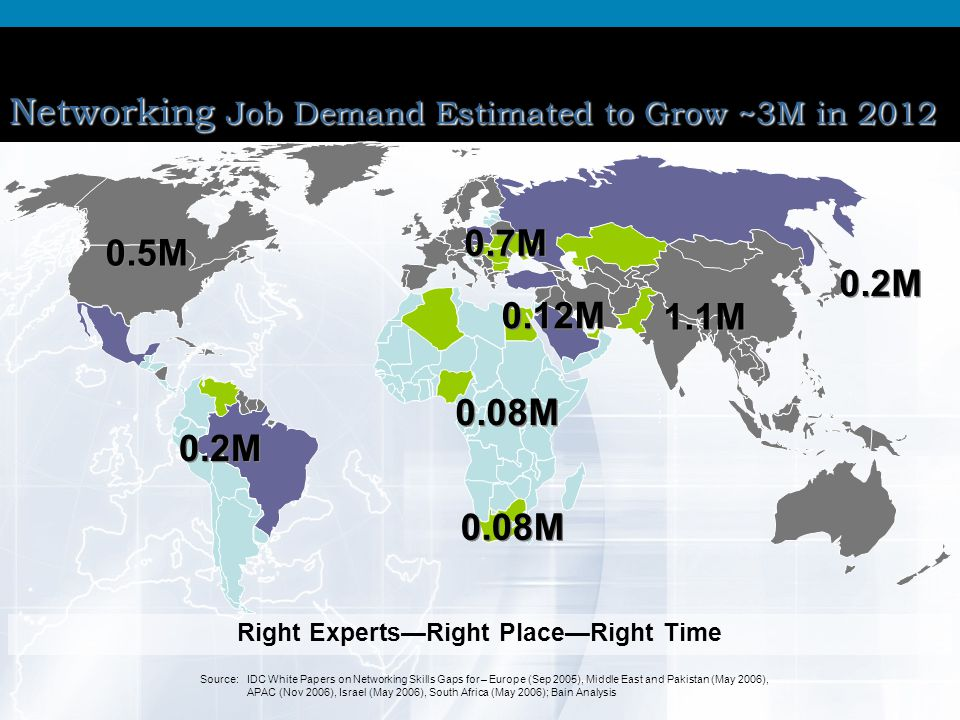 Networking Job Demand Estimated to Grow ~3M in 2012
