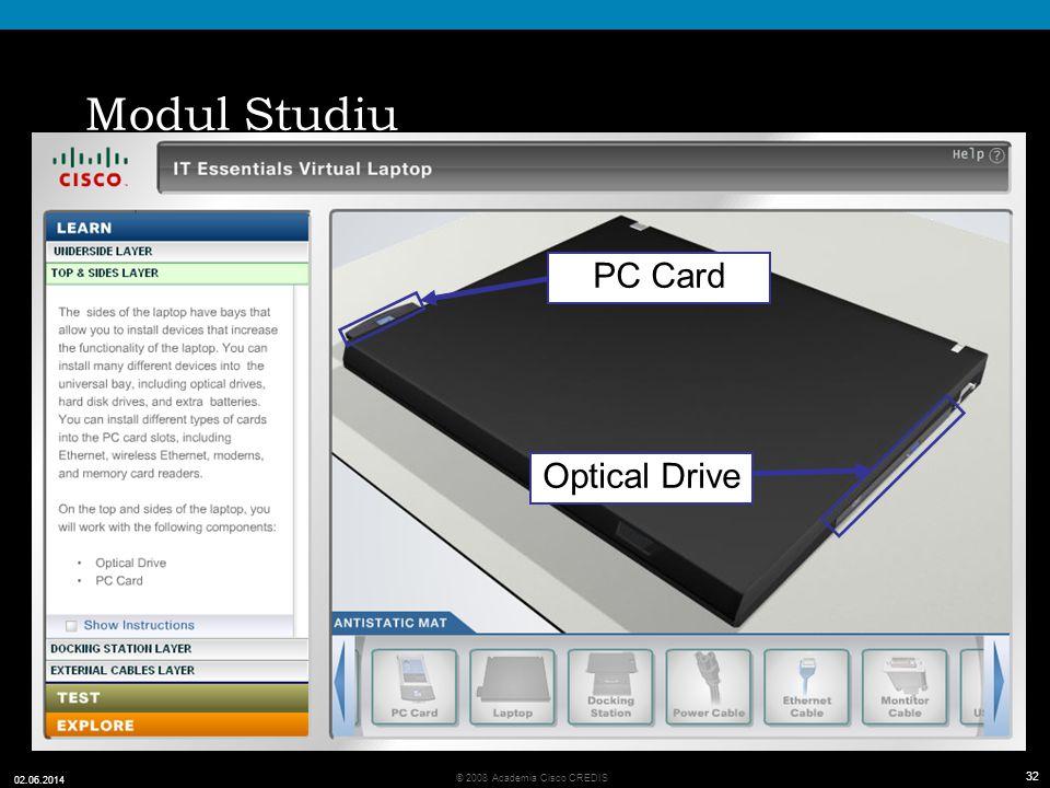 Modul Studiu PC Card Optical Drive