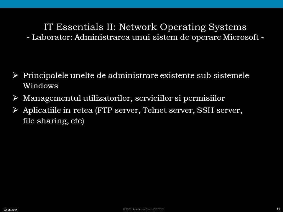 IT Essentials II: Network Operating Systems - Laborator: Administrarea unui sistem de operare Microsoft -
