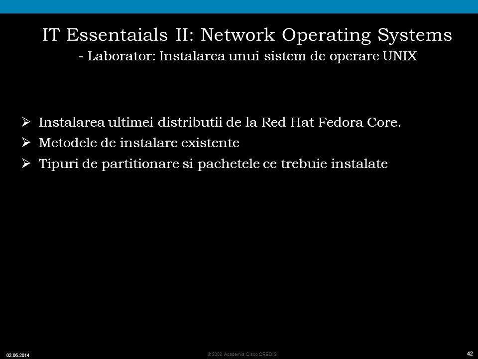 IT Essentaials II: Network Operating Systems - Laborator: Instalarea unui sistem de operare UNIX