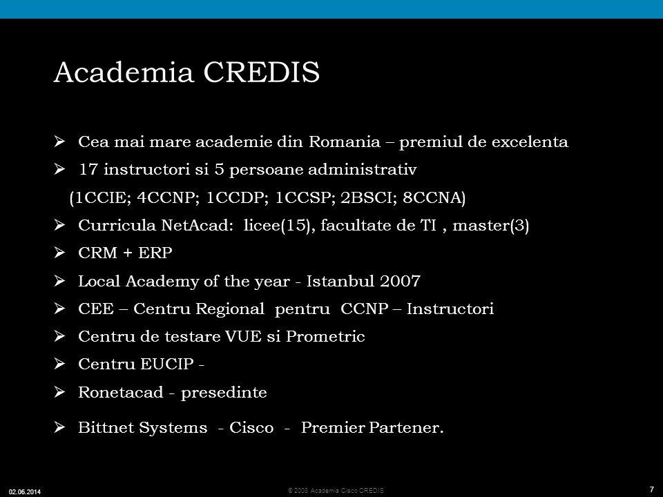 Academia CREDIS Cea mai mare academie din Romania – premiul de excelenta. 17 instructori si 5 persoane administrativ.