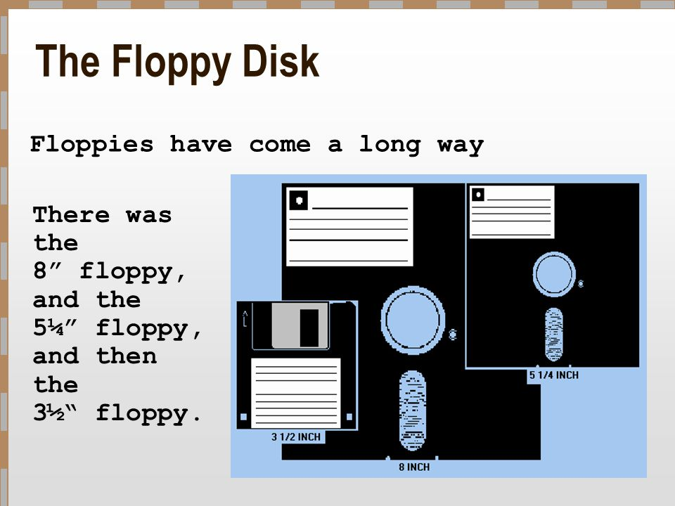 The Floppy Disk Floppies have come a long way