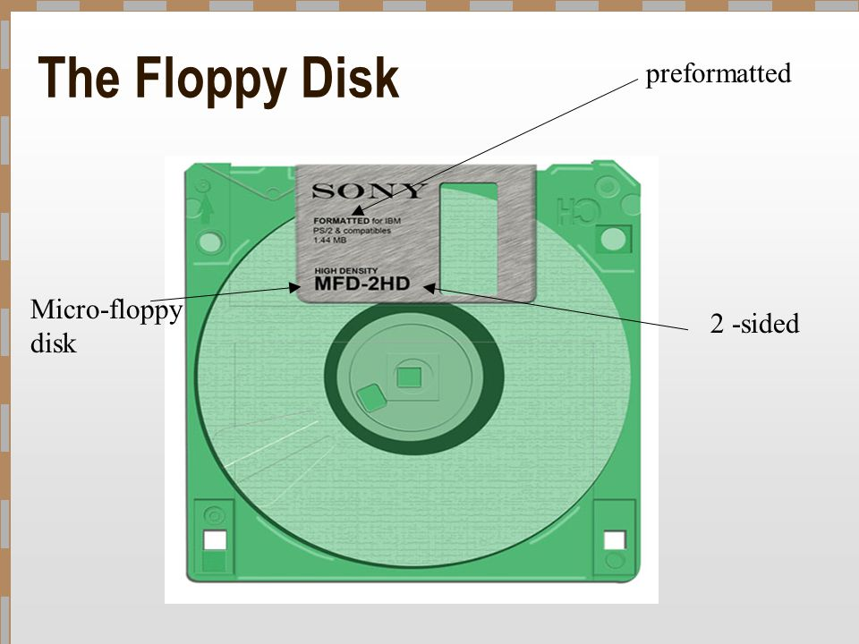 The Floppy Disk preformatted Micro-floppy disk 2 -sided