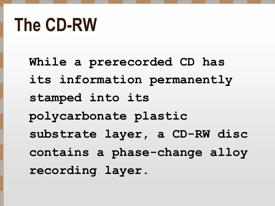 The CD-RW