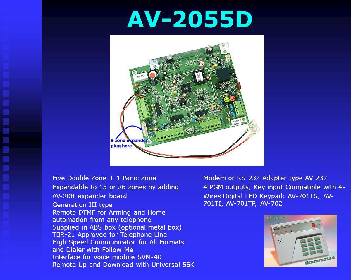 AV-2055D Modem or RS-232 Adapter type AV-232