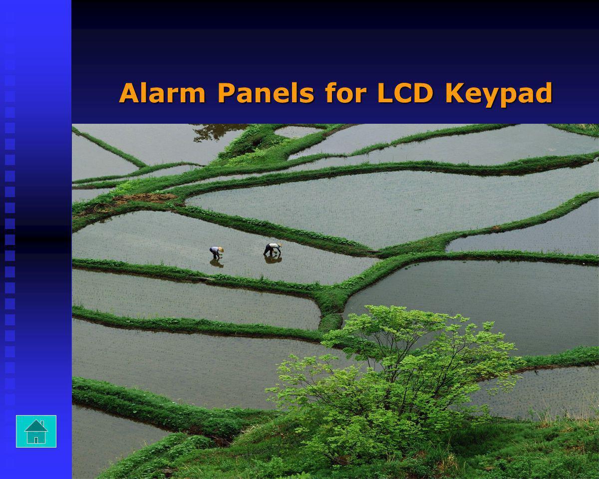 Alarm Panels for LCD Keypad