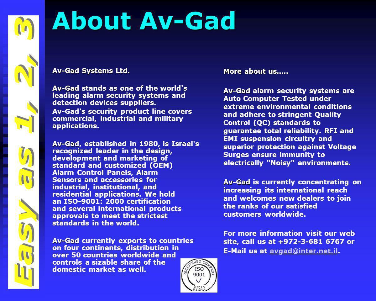 About Av-Gad Av-Gad Systems Ltd.