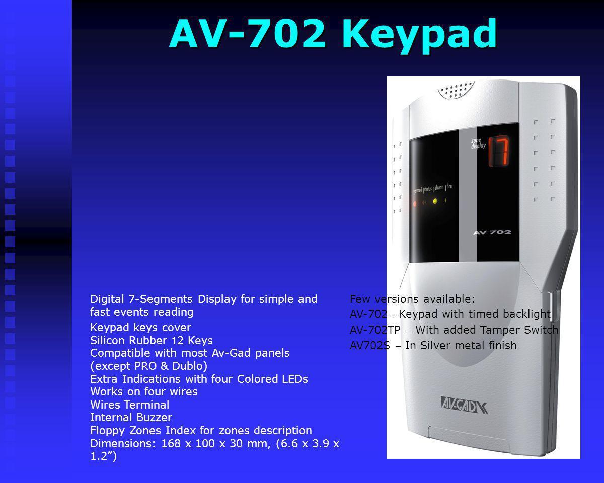 AV-702 Keypad Few versions available: