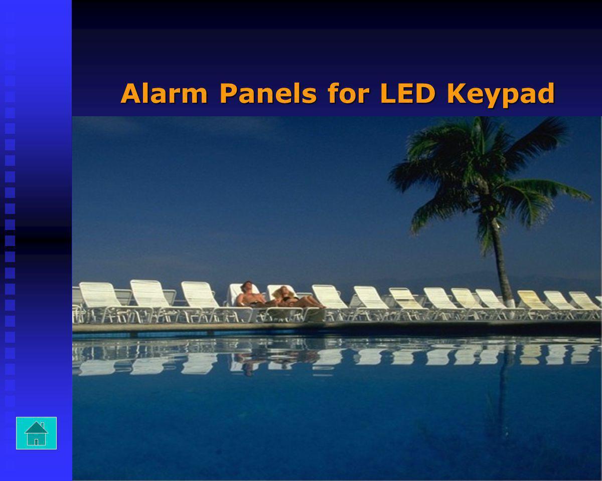 Alarm Panels for LED Keypad